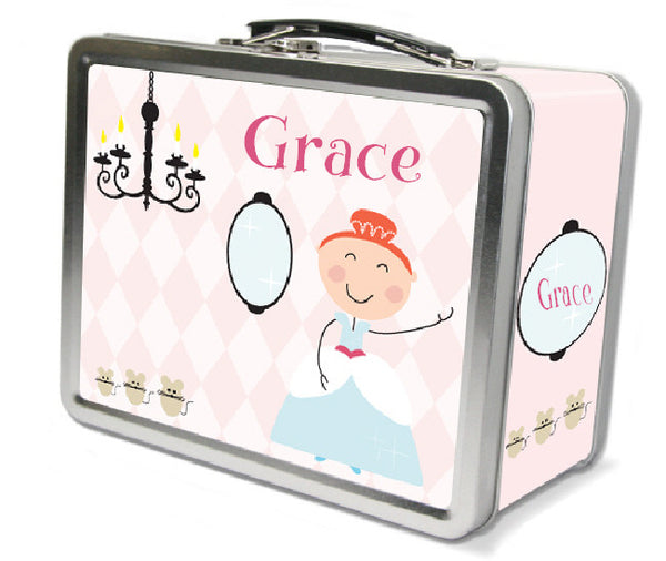 Red Hair Glam Princess Lunch Box - frecklebox