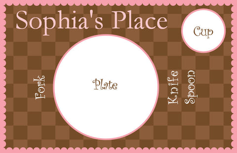 Gingham Pink Placemat