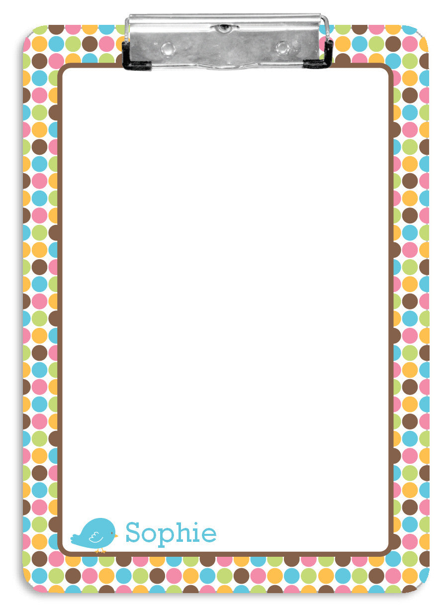 Cutie Birds Clipboard - frecklebox