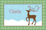 Happy Reindeer Placemat - frecklebox - 1
