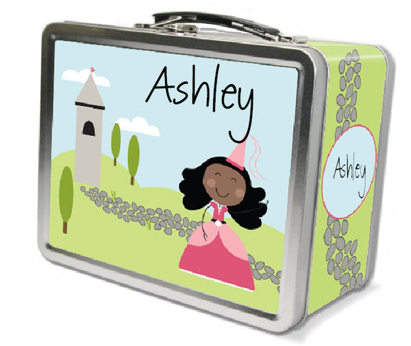 Black Hair Princess Lunch Box - frecklebox