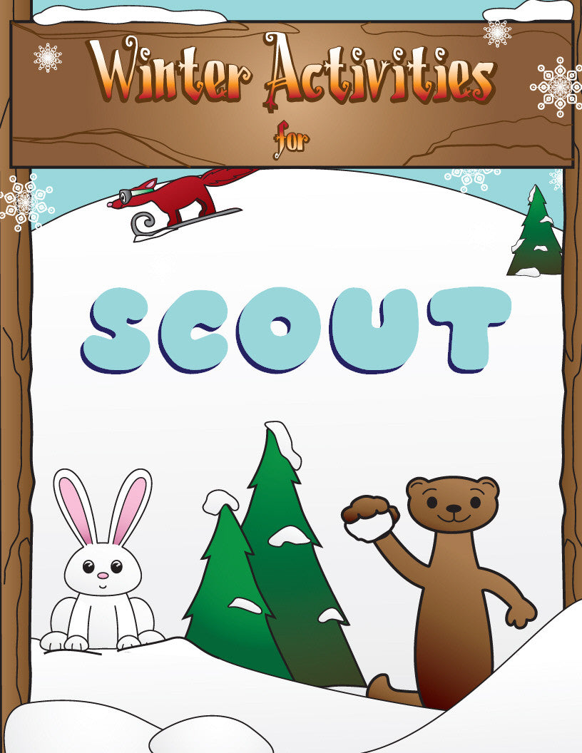 Winter Activity Book - frecklebox