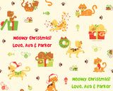 Holiday Cats Wrapping Paper 6ft - frecklebox