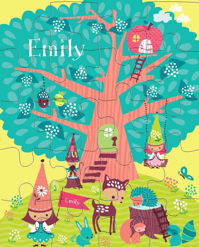 Woodland Gnomes Puzzle - frecklebox