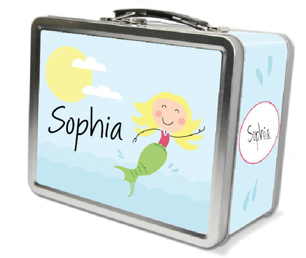 Blonde Hair Mermaid Lunch Box - frecklebox
