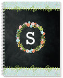 Floral Monogram Notebook - frecklebox - 1