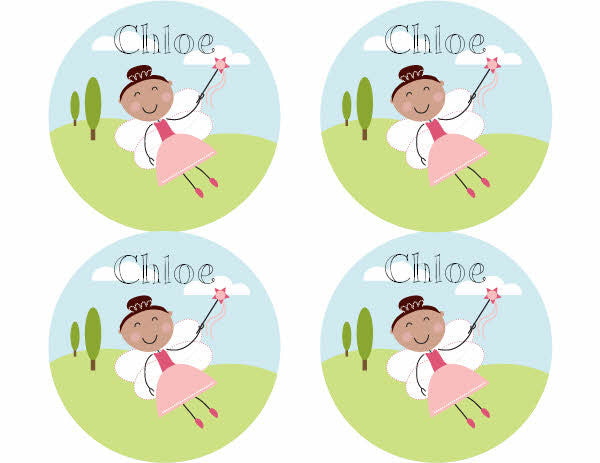 Brown Hair Fairy Personalized Stickers - frecklebox