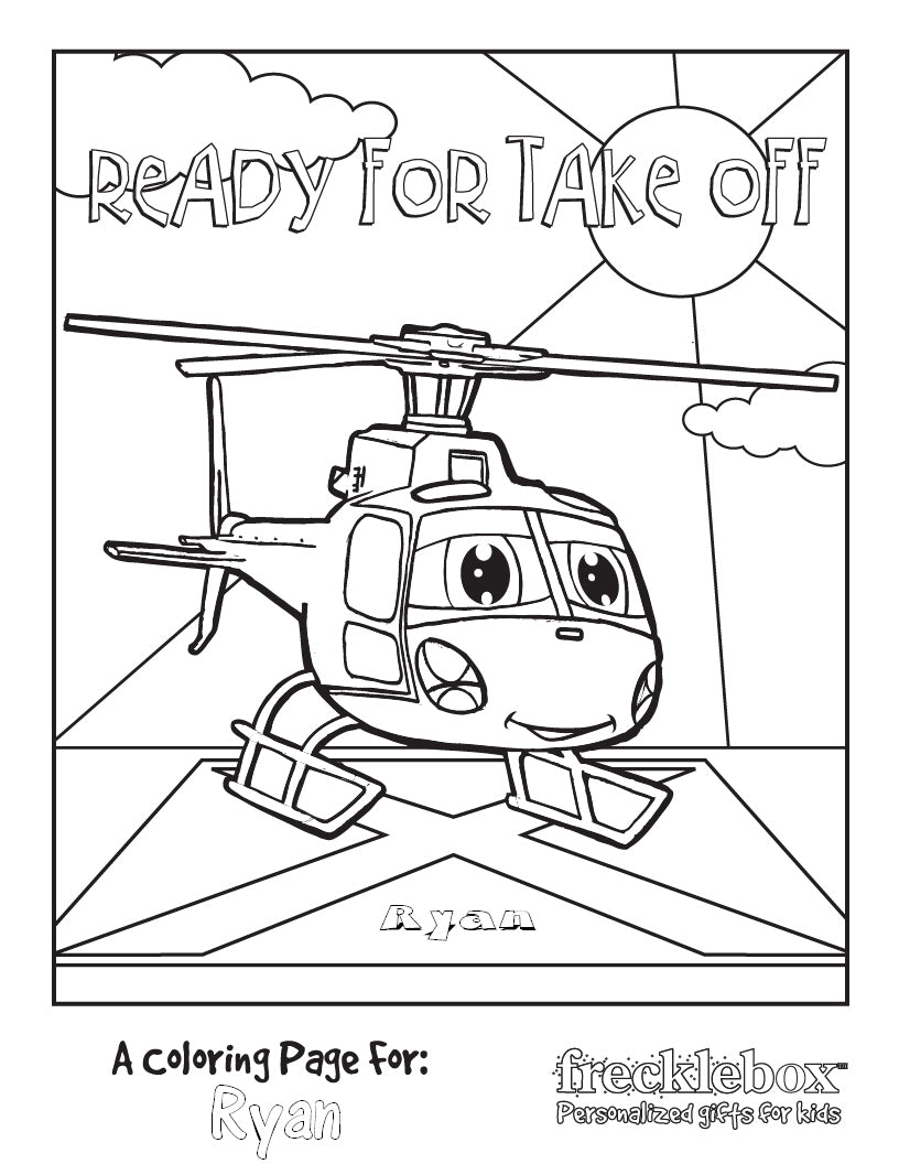 Ready for Take Off Coloring Page - frecklebox