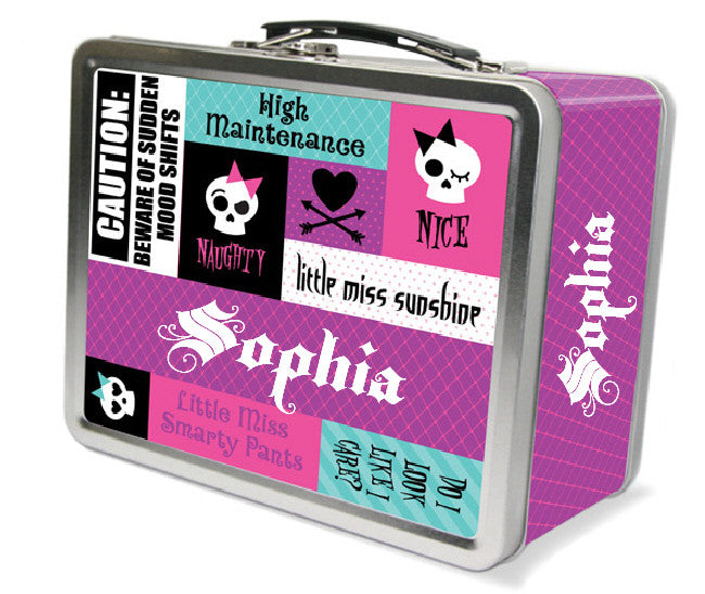 Punk Princess Phrases Lunchbox - frecklebox