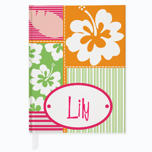 Hula Girl Personalized Journal - frecklebox