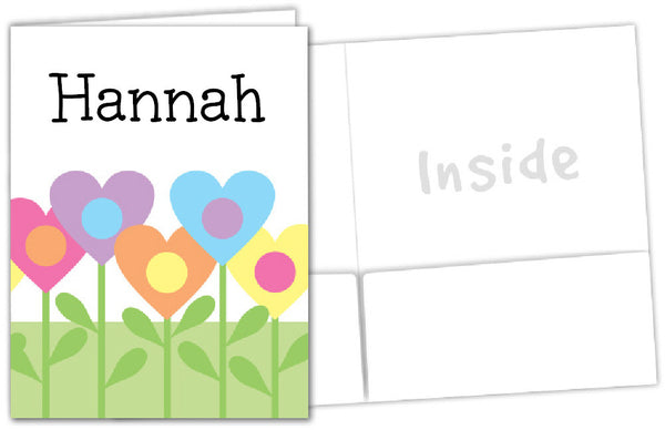 Heart Garden Folder - frecklebox