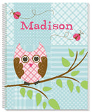 Quilted Owls Notebook - frecklebox - 1