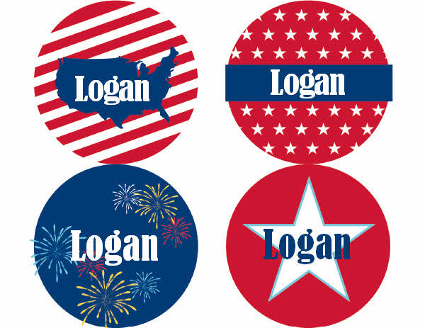 All American Kid Personalized Stickers