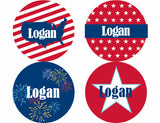 All American Kid Personalized Stickers - frecklebox - 1