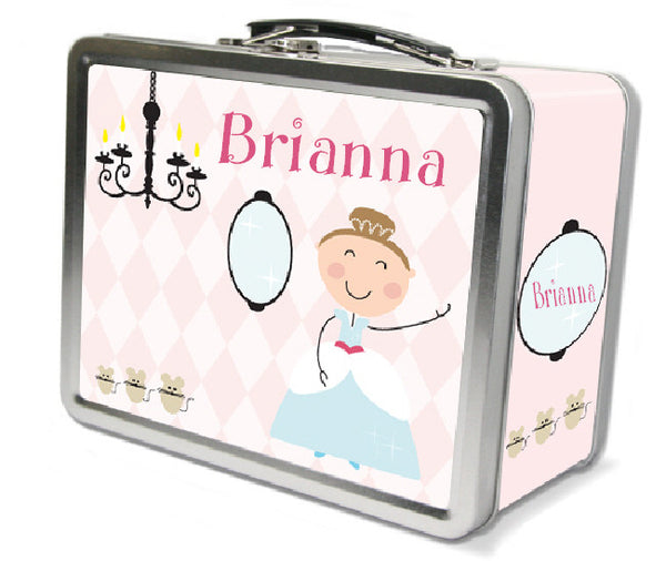 Light Brown Hair Glam Princess Lunch Box - frecklebox