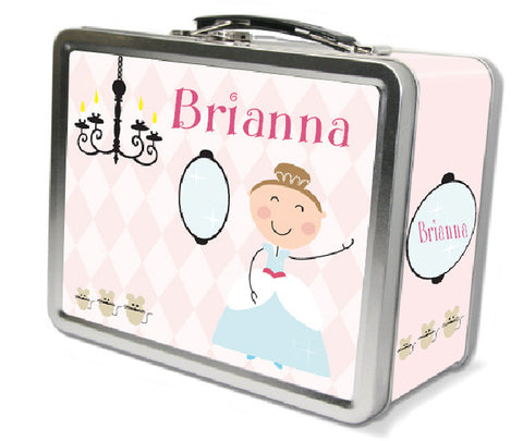 Light Brown Hair Glam Princess Lunch Box