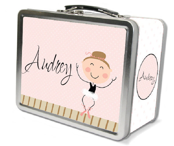Light Brown Hair Ballerina Lunch Box - frecklebox