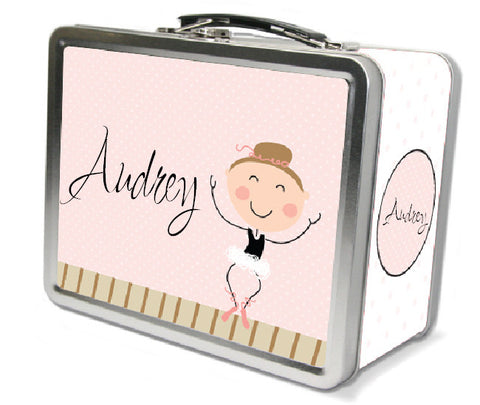 Light Brown Hair Ballerina Lunch Box