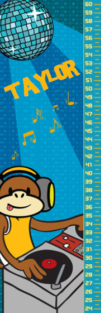 DJ Monkey Growth Chart - frecklebox