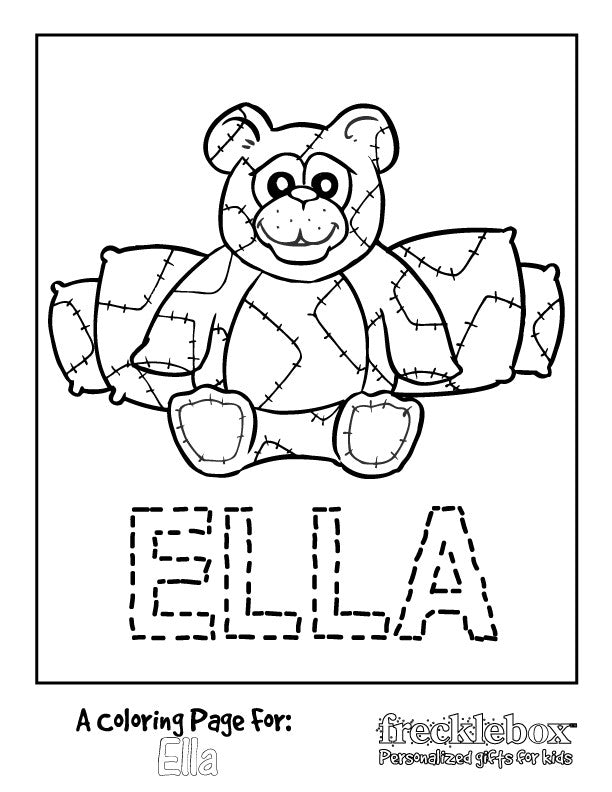 Beary Happy Coloring Page - frecklebox