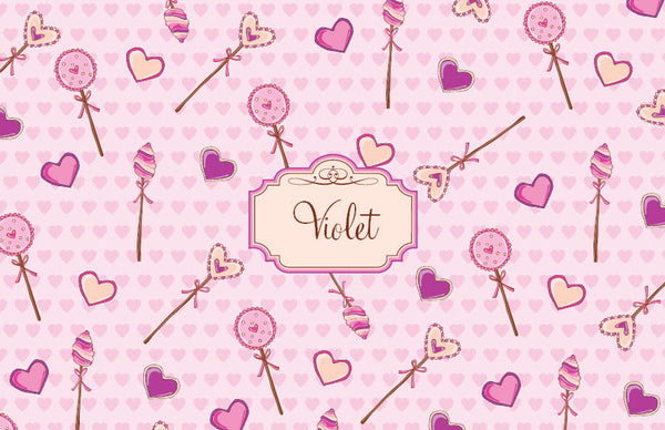 Lollipop Hearts Placemat - frecklebox