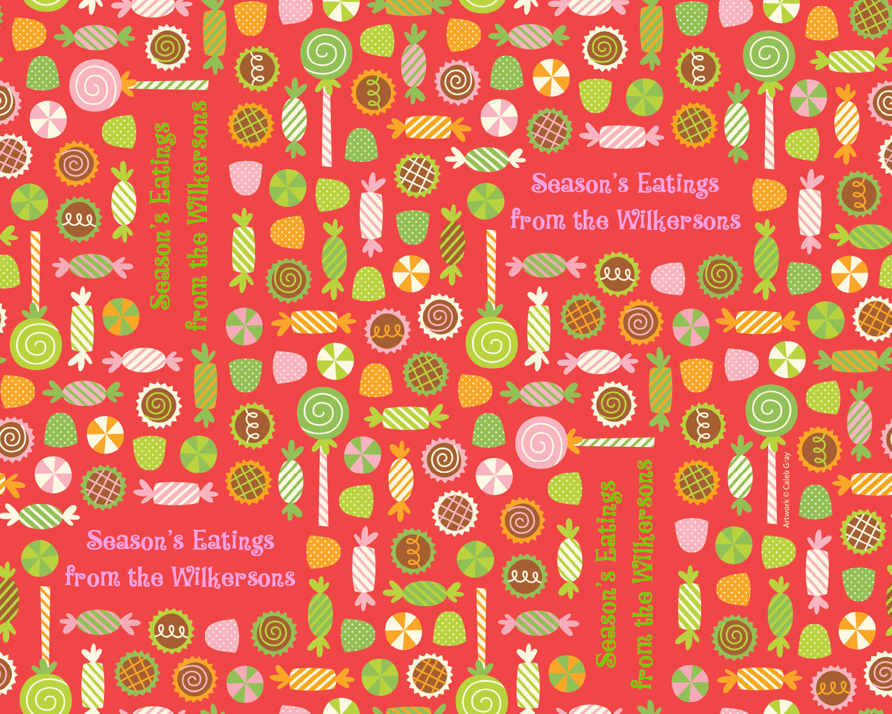 Holiday Candy Red Wrapping Paper 12ft - frecklebox