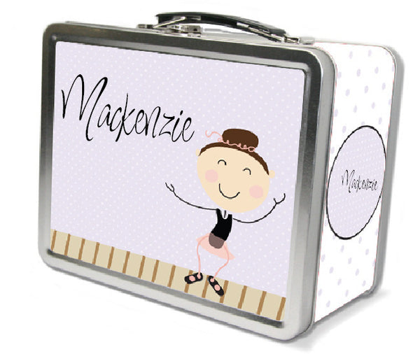 Dark Brown Hair Tap Dancer Lunch Box - frecklebox