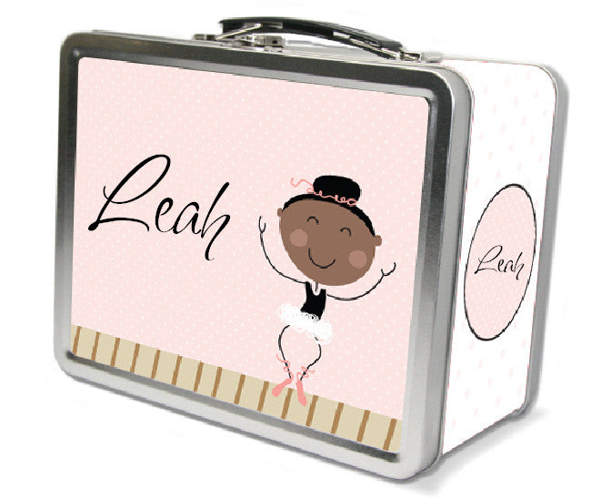 Black Hair Ballerina Lunch Box - frecklebox