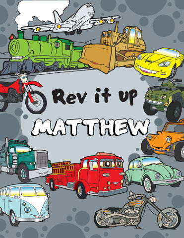 Rev It Up Coloring Book