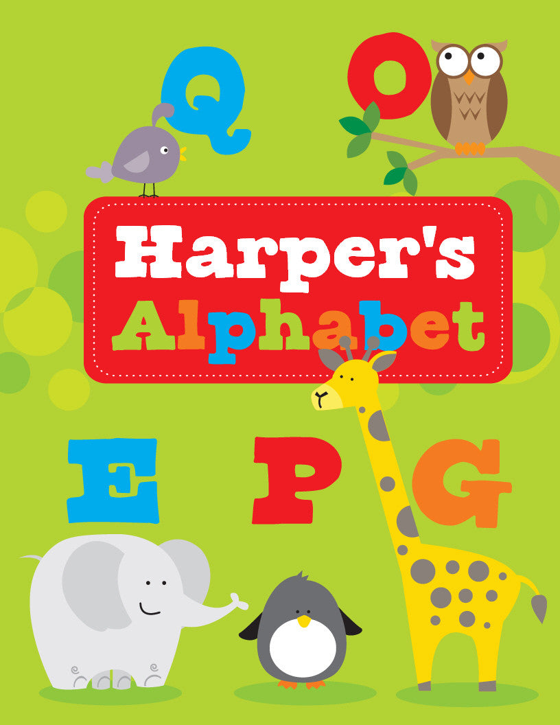 alphabet personalized coloring book