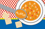 Alphabet Soup Placemat - frecklebox - 1