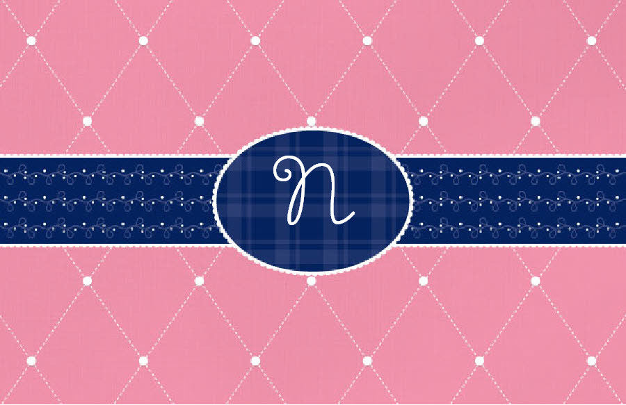 Quilted Monogram Placemat - frecklebox