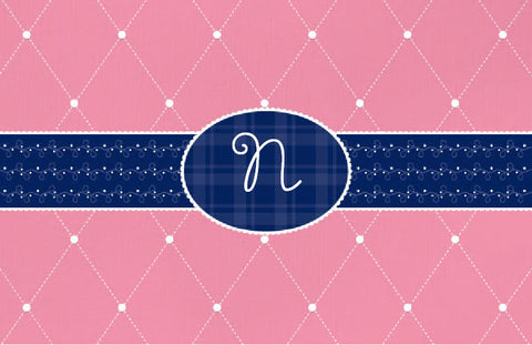 Quilted Monogram Placemat