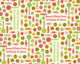 Holiday Candy Cream Wrapping Paper 6ft - frecklebox