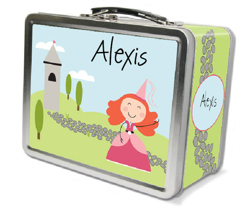 Red Hair Princess Lunch Box