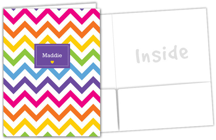 Rainbow Chevron Folder - frecklebox