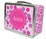 Pink Polka Dots Lunch Box - frecklebox - 1