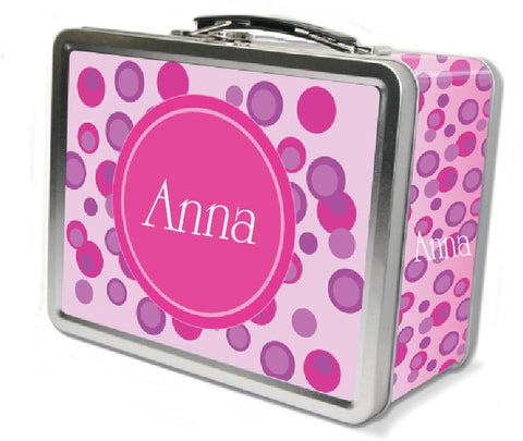 Pink Polka Dots Lunch Box