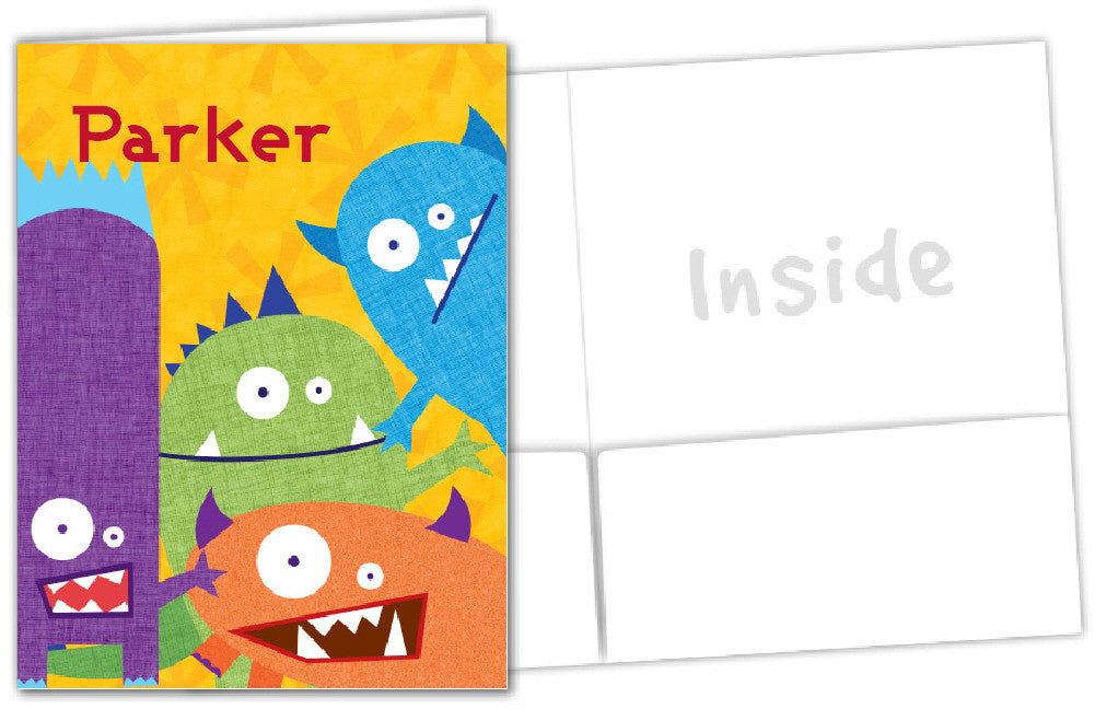 Monsters Folder - frecklebox