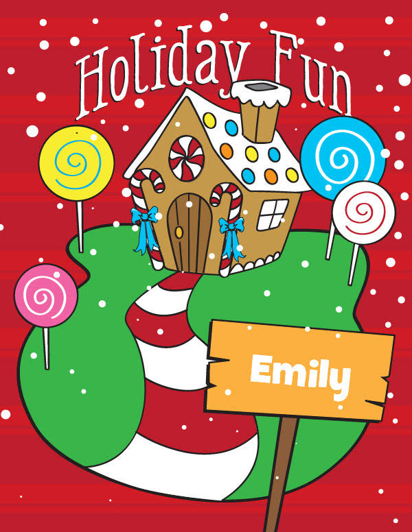 Holiday Fun Activity and Coloring Book - frecklebox