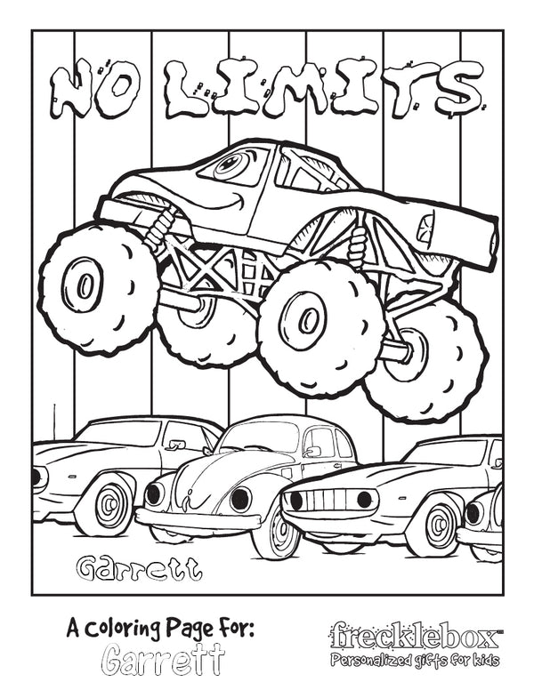 No Limits Coloring Page - frecklebox