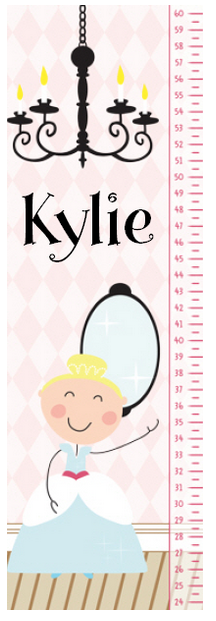 Princess Growth Chart Personalized Gift