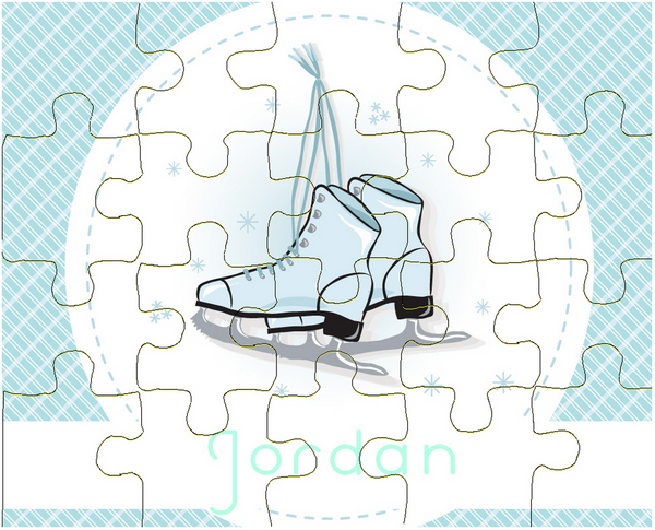 Ice Skates Puzzle - frecklebox