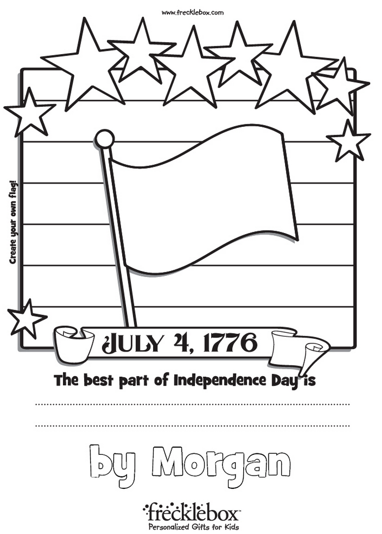 Independence Day Coloring Page - frecklebox