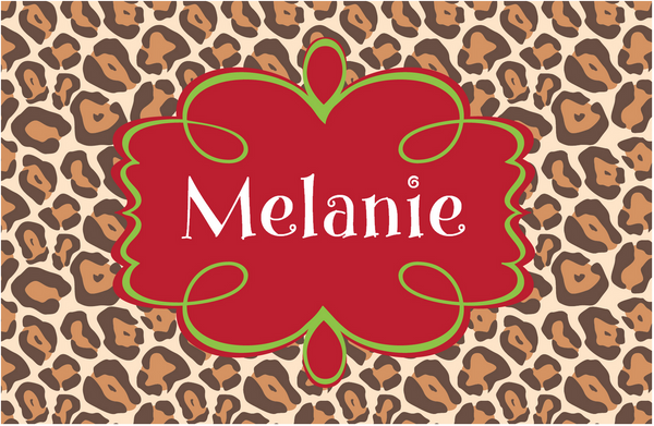 Leopard Holiday Placemat - frecklebox