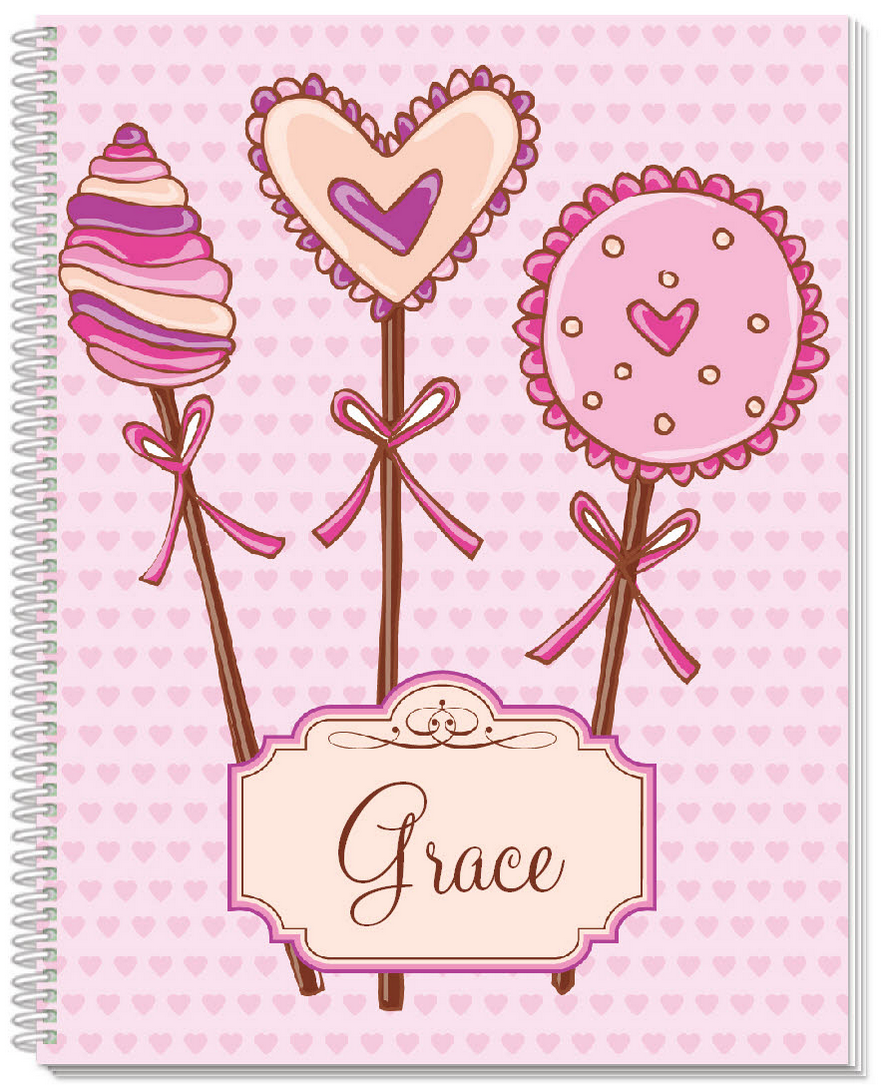 Lollipop Hearts Sketchbook - frecklebox