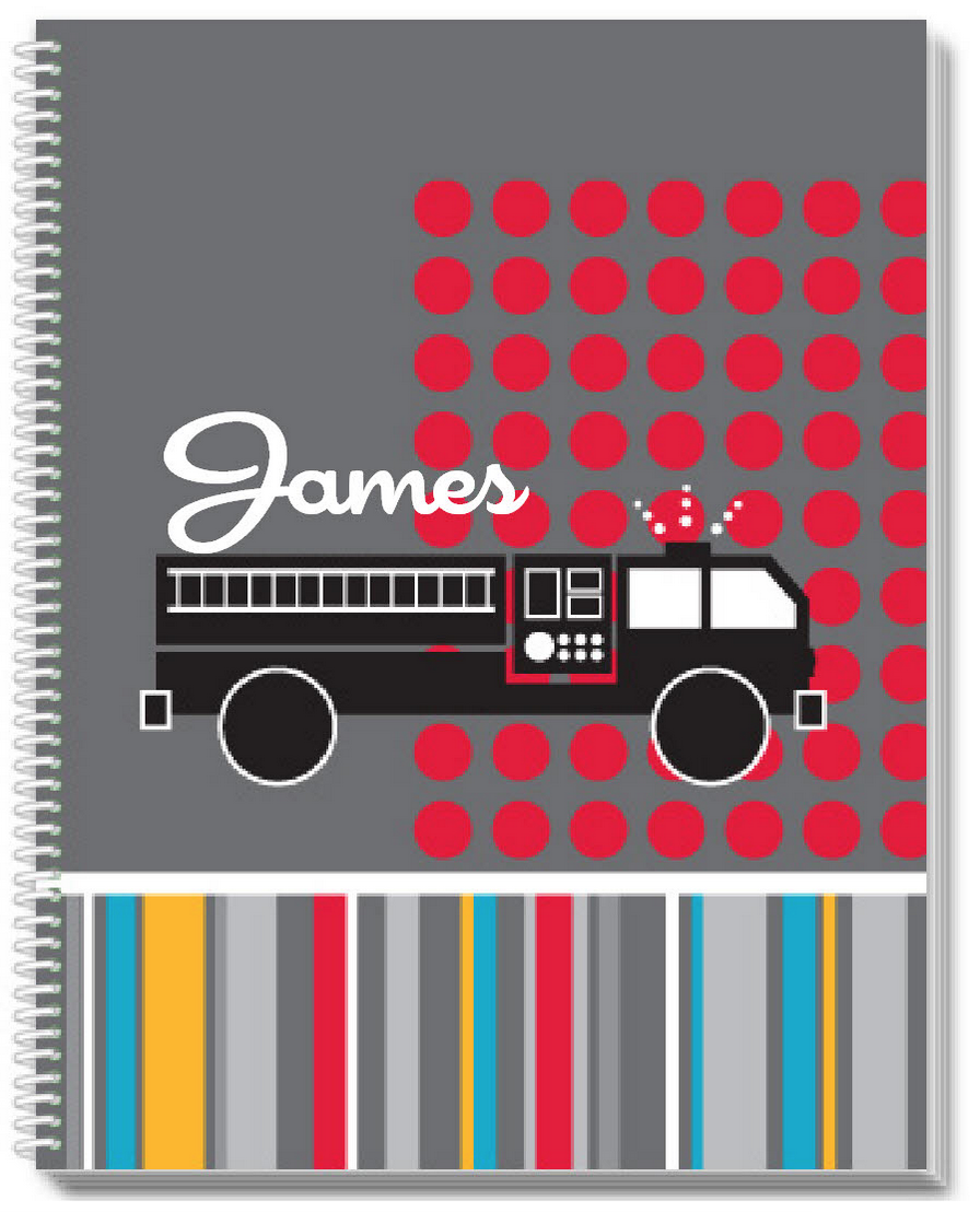 Mod Fire Truck Sketchbook - frecklebox