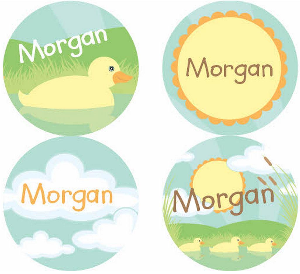 Mucky Duckies Personalized Stickers - frecklebox