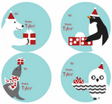 North Pole Pals Personalized Stickers - frecklebox
