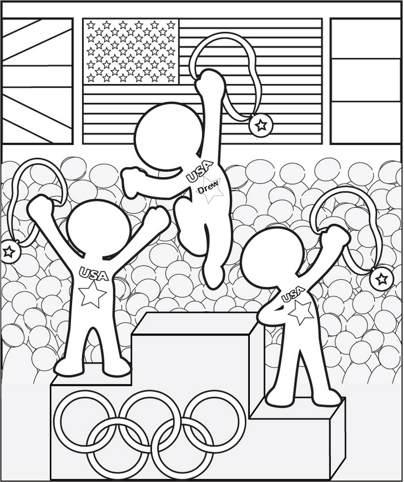 Olympics Coloring Page - frecklebox